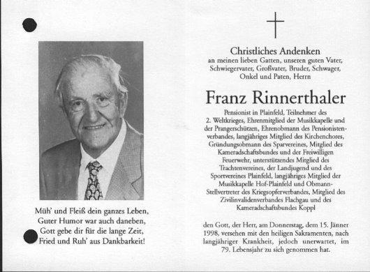 Franz Rinnerthaler