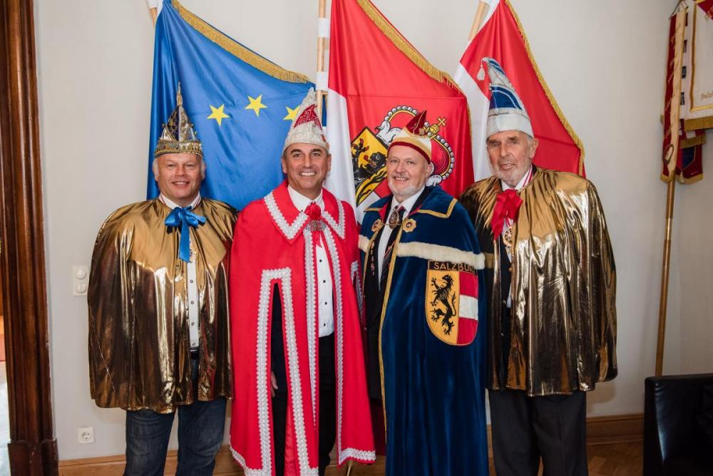 mit Landespräsident der Salzburger Faschingsgilden Dr. Gerhard Ummenberger